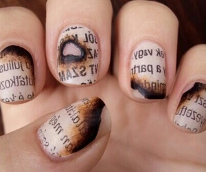 nails, nail art, and newspaper image