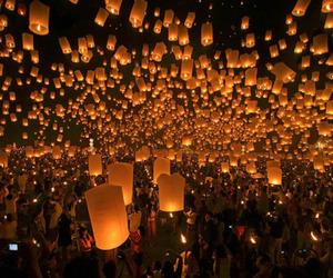 light, lantern, and night image