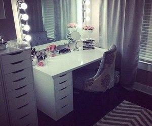 room, make up, and girly image