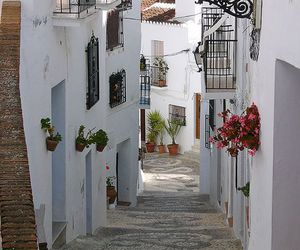 spain, street, and white image
