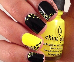 nails, black, and yellow image