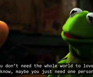 love, quotes, and kermit image