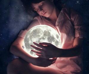 moon, Dream, and sleep image