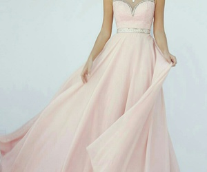 fashion, promdress, and pink image