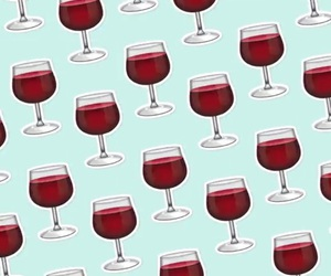 wine, blue, and red image