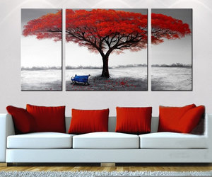 etsy, home decor, and tree painting image