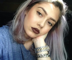 color hair, girl, and hair image