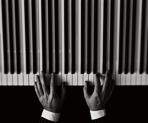 music, hands, and piano image