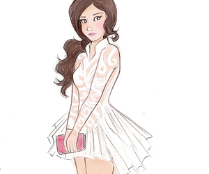 selena gomez, drawing, and dress image