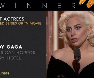 golden globes, Lady gaga, and ahs image