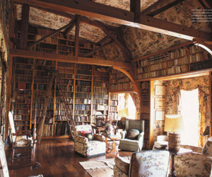 antique, books, and armchairs image