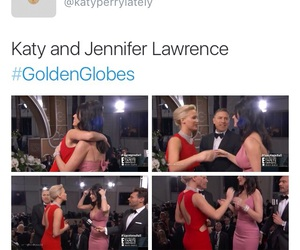 Jennifer Lawrence, golden globes, and katy perry image