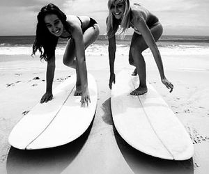 beach, surf, and friends image