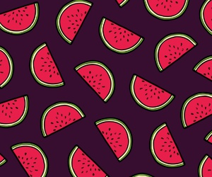 fruit, patterns, and watermelon image
