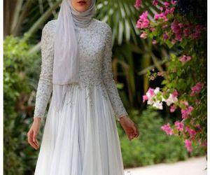 hijab, dress, and style image
