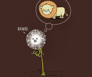 lion, rawr, and funny image