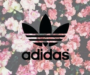 adidas and flowers image