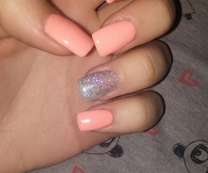 glitter, nails, and girly image