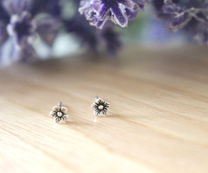 earrings, etsy, and flower image
