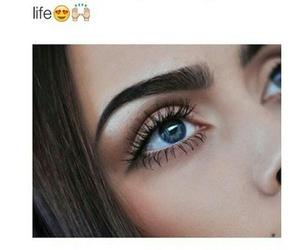 girl, makeup, and eyebrows image