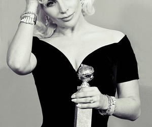 Lady gaga, gaga, and golden globes image