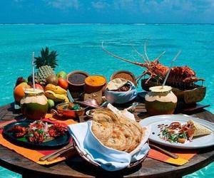 beach, summer, and breakfast image