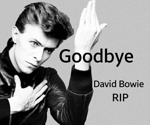 david bowie, goodbye, and music image