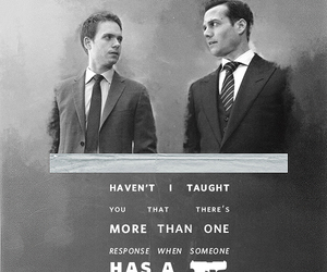 gun, suits, and harvey image