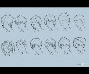 draw, hairstyle, and male image