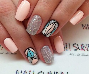 nails, nail art, and glitter image