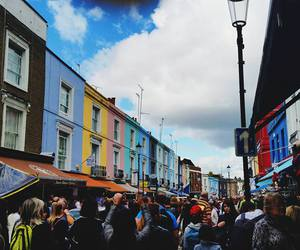 crowded, shops, and london image