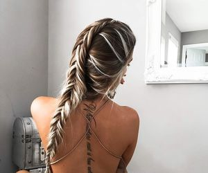 braids, fashion, and tatto image