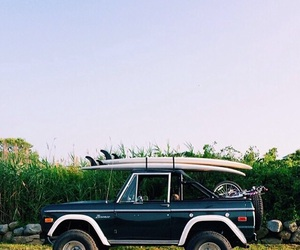 car, summer, and surf image