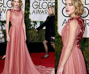 amber heard, dress, and golden globes image