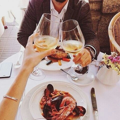 couple, food, and luxury image
