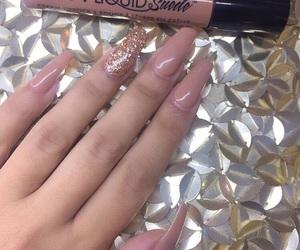 nails, pink, and girl image