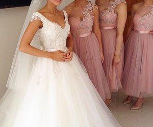 fashion, wedding dress, and glamour image