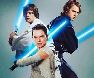 LUke, anakin, and star wars image