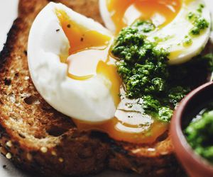 breakfast, egg, and food image