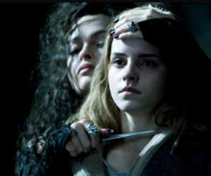 harry potter, hermione granger, and bellatrix lestrange image