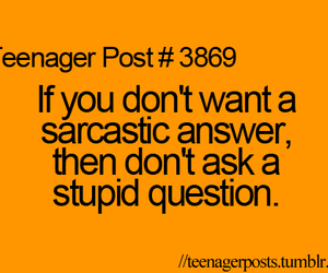 post, sarcastic, and answer image