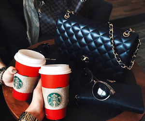coffee, chanel, and starbucks image