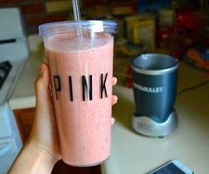 pink, drink, and smoothie image