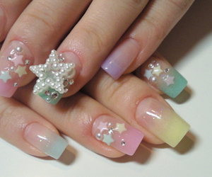 nails, stars, and cute image