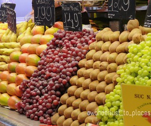 Barcelona, fruit, and spain image
