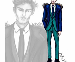 illustration, menswear, and hayden williams image