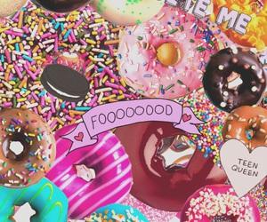 food, donuts, and wallpaper image