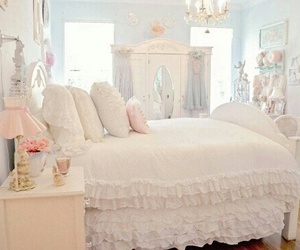 room, bedroom, and pastel image