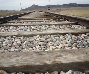 country, railroad, and middle of nowhere image