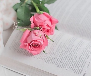 flowers, beautiful, and book image